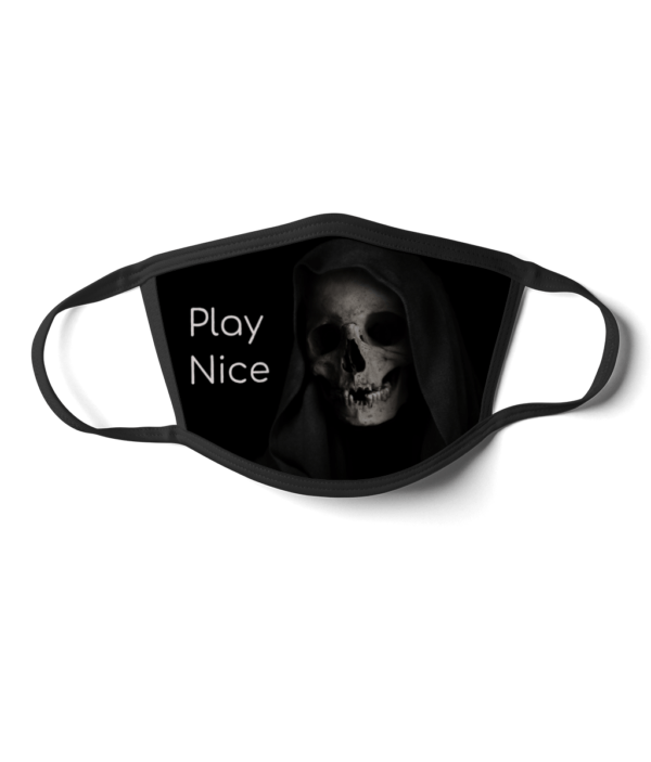 Play Nice Face Mask grim reaper
