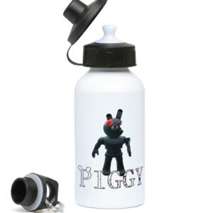 Robot Bunny piggy skin 400ml Water Bottle