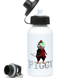 primrose infected Piggy Skin from Roblox Piggy game 400ml Water Bottle