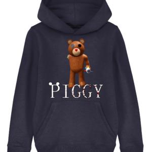 Valentine Teddy Piggy Skin from Roblox Piggy Game child's hoodie