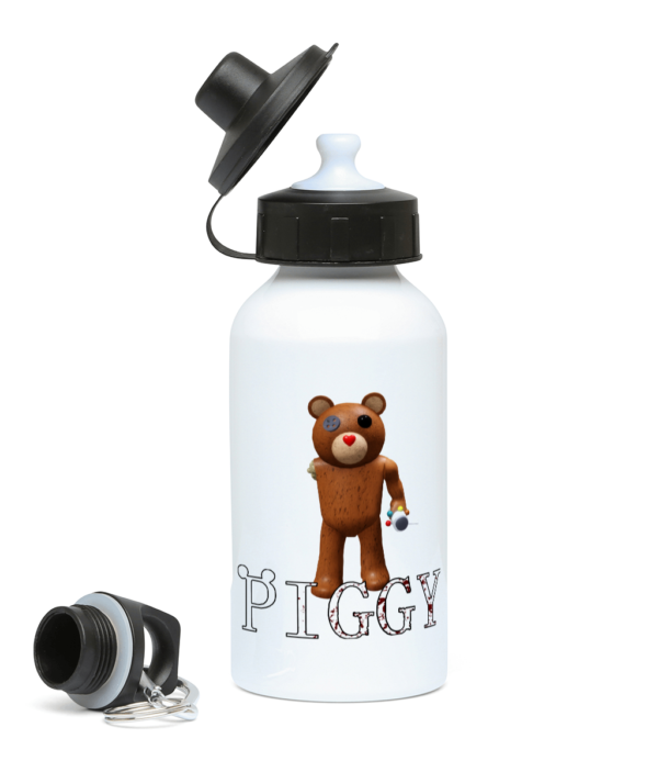 Valentine Teddy Piggy Skin from Roblox Piggy Game 400ml Water Bottle
