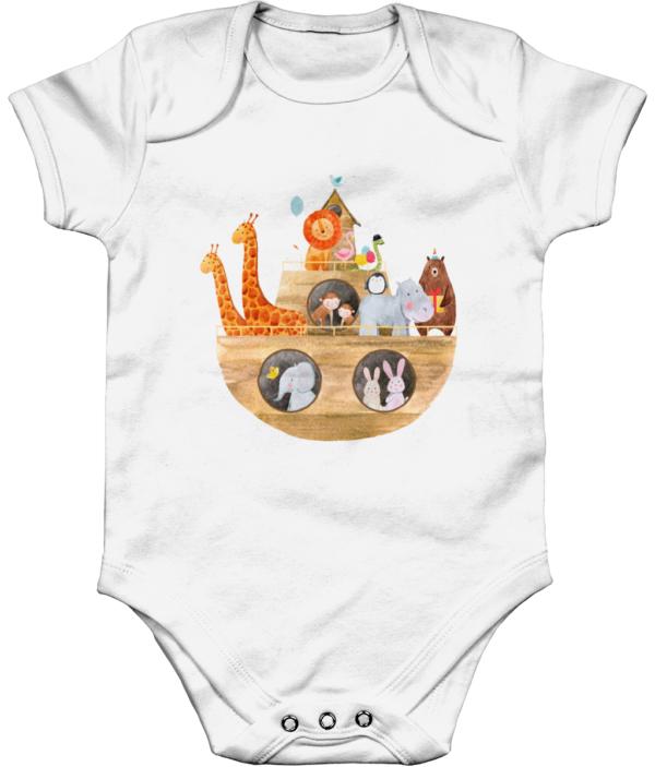 The Ark Organic Short Sleeve Baby Bodysuit the ark