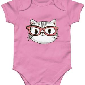 Kitty Organic Short Sleeve Baby Bodysuit kitty
