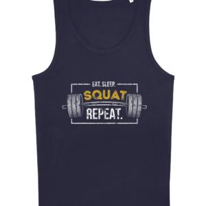Eat, Sleep. Squat, Repeat Vest Top Eat