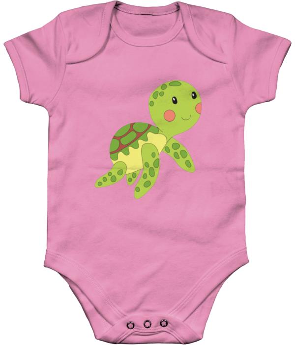 Little Turtle Organic Short Sleeve Baby Bodysuit little turtle