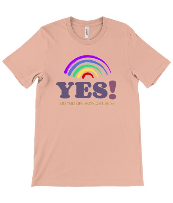 Yes  LGBT Unisex Crew Neck T-Shirt lgbt