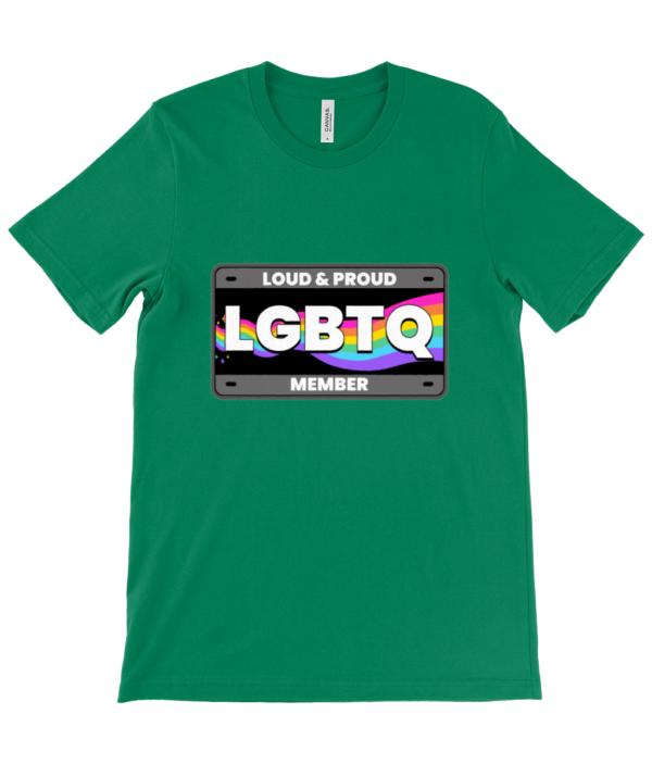 LGBTQ loud and Proud Unisex Crew Neck T-Shirt lgbtq
