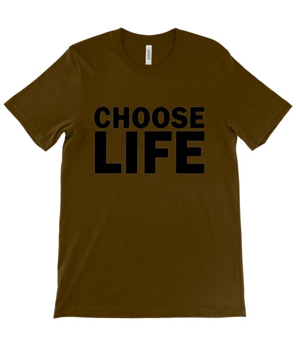 choose life unisex t-shirt choose life