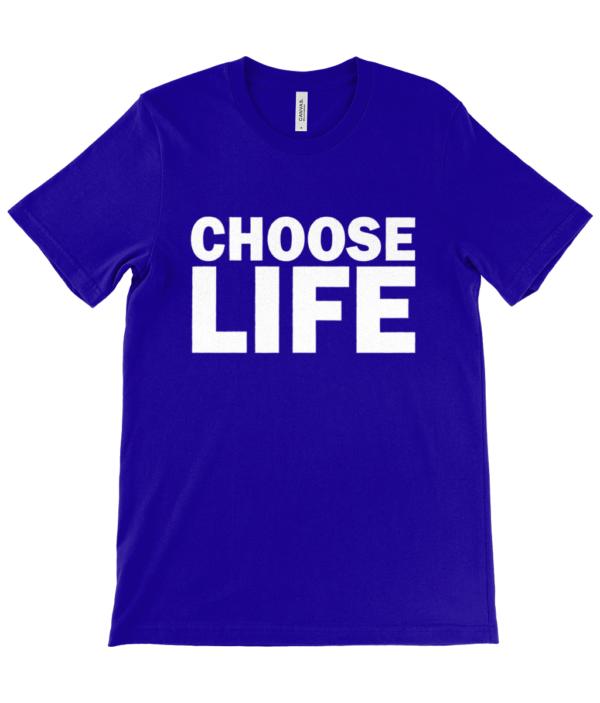 choose life unisex t-shirt in white choose life