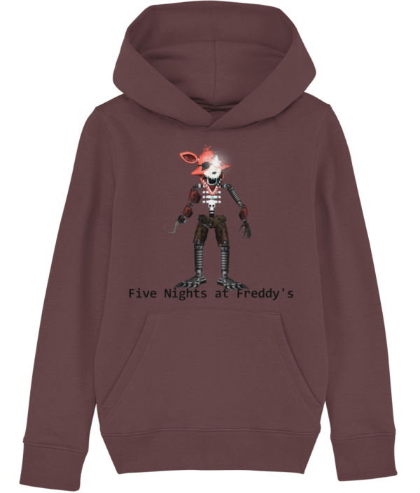Withered nightmare Foxy from Five nights at Freddy's. Child's hoodie Five nights at Freddy's